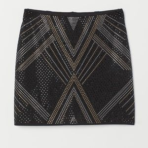 Mini skirt with studs